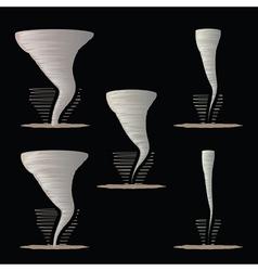 Tornado vector image vector image
