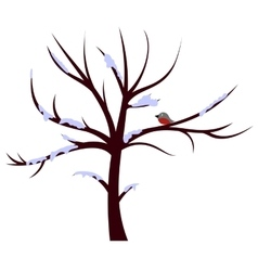 Tree winter sign vector image