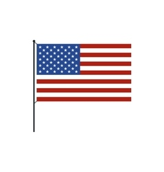 USA flag icon in flat style vector image