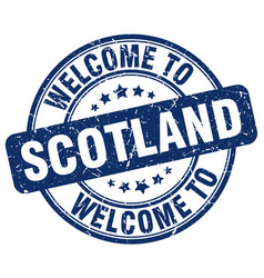 Welcome to scotland vector