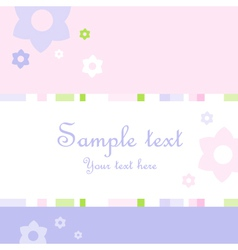 Flower pattern greeting card vector