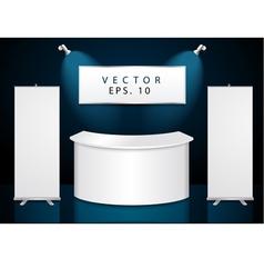 reception exhibition counter vector image