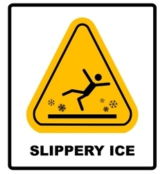 Caution watch for ice sign background vector