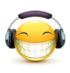 Musical emoticon vector