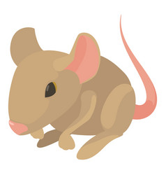 Rat icon cartoon style vector