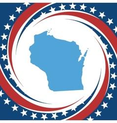 Vintage label Wisconsin vector image