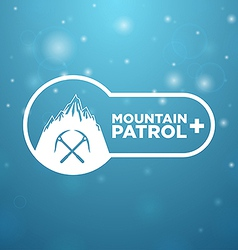 Logotype mountain patrol vector
