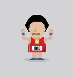 Marathon Man vector image