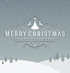 Christmas postcard ornament decoration background vector