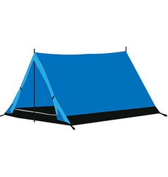 Camping tent blue vector