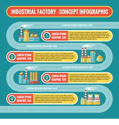 Industrial factory - infographic business concept vector