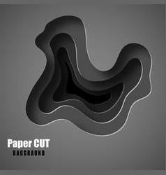 3d abstract background with white paper cut shapes vector image