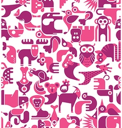 Animal seamless background vector
