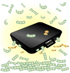 case and money vector image