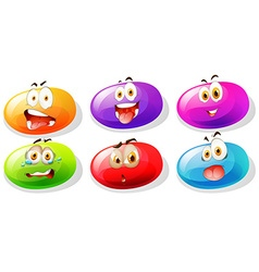 Jelly beans with faces vector