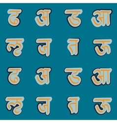 Seamless background with sanskrit vector