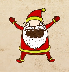 Father christmas cartoon vector