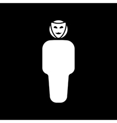 The anonym icon unknown and faceless impersonal vector