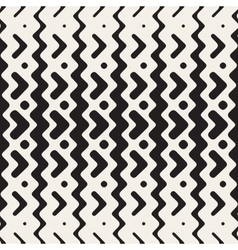 Seamless zigzag rounded lines ethnic vector