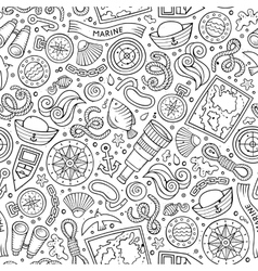 Cartoon nautical seamless pattern vector