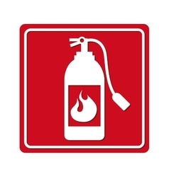 Extinguisher signal silhouette icon vector