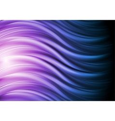 Abstract blue and violet waves vector image vector image