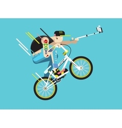 Active bicyclist character vector