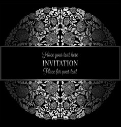 baroque background with antique luxury silver vector image vector image