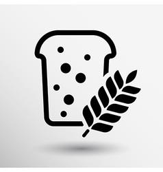 bread ornate design background logo grain meal bun vector image