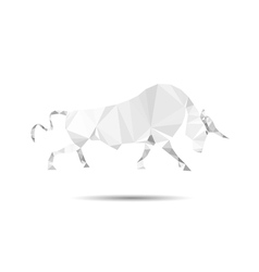 Bull abstract vector image