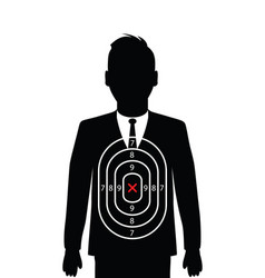 Business man shooting target vector