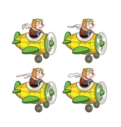 Cartoon Rat Pilot Sprite vector image vector image