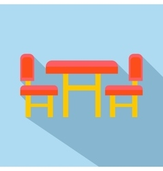 Children furniture icon flat style vector