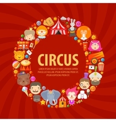 Circus icons set collection of elements of clown vector