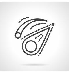 Comet black line design icon vector image