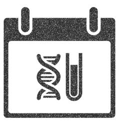 Dna analysis calendar day grainy texture icon vector