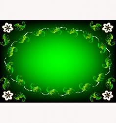 Easter flower background vector image vector image