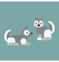 Eskimo dog vector