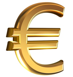 Euro sign on white vector image