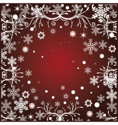 floral christmas vector image
