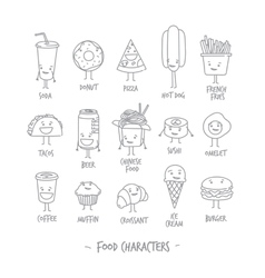 Food characters vector image vector image