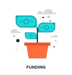 funding vector image vector image