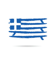 Greek flag in blue and white color vector