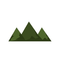 Green mountains and hills vector