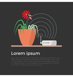 Harm of wi-fi concept vector