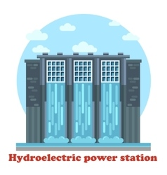 Hydroelectric power station and water falling vector