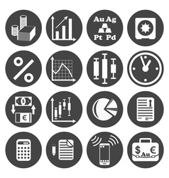 Investor icons set vector