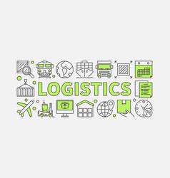 Logistics concept minimal vector