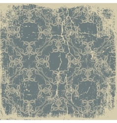 old paper with a beautiful pattern vintage vector image vector image