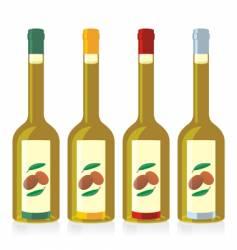 olive oil bottles set vector image vector image